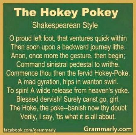 Hokey Pokey Shakespearean